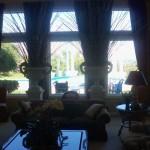 Tall Ocean View Window Screens in Living Room