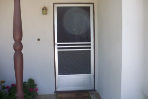 Screen Doors with a pet grill