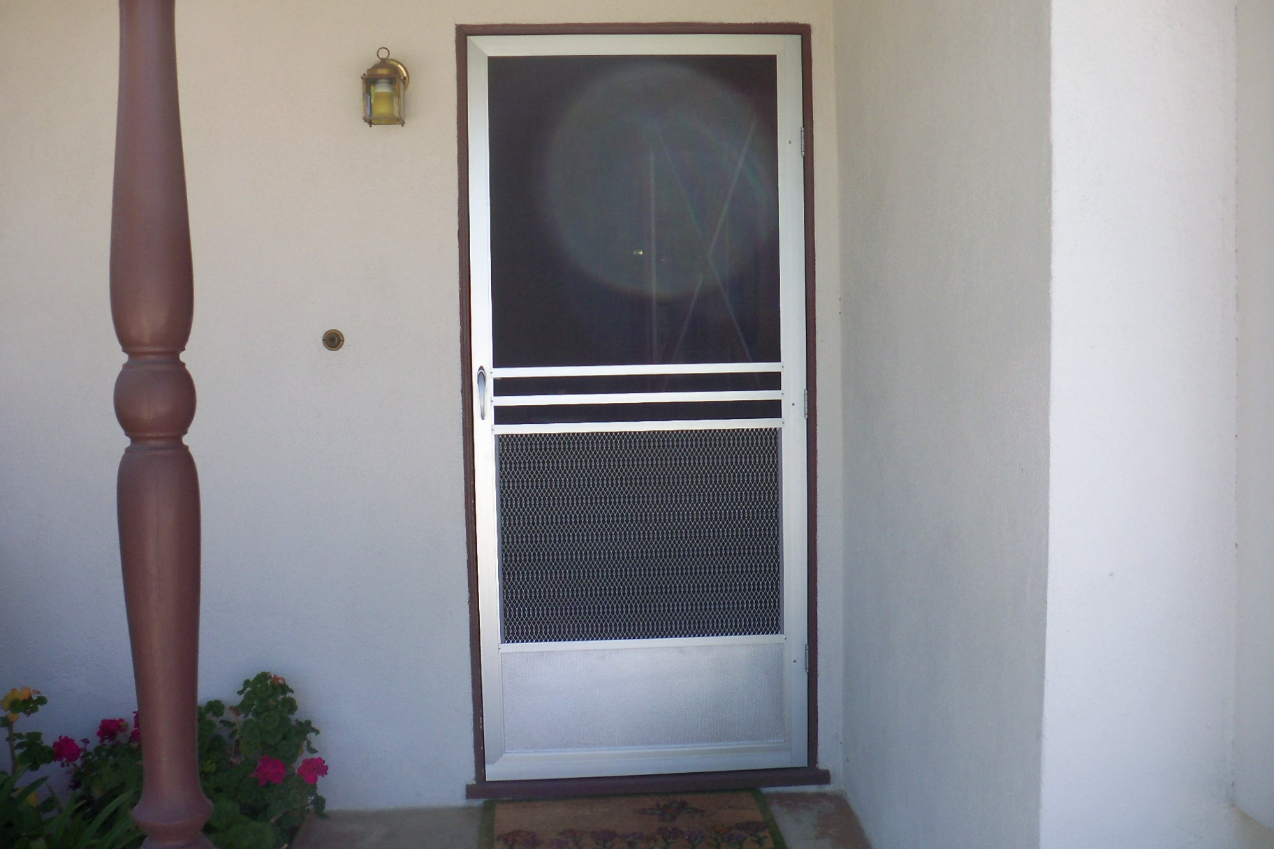 hideaway door screen how to install a retractable screen
