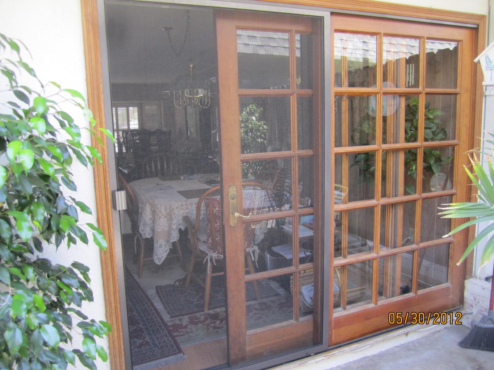 Invisible screen doors licensed contractor custom for Hidden sliding screen door