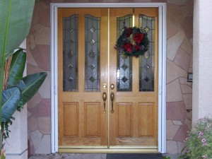 french doors with retractable screen doors