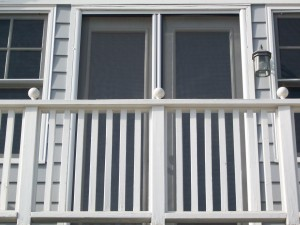 Invisible screens for back balcony
