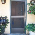 Architectural Bronze Heavy Duty Swinging Screen Door in Calabasas
