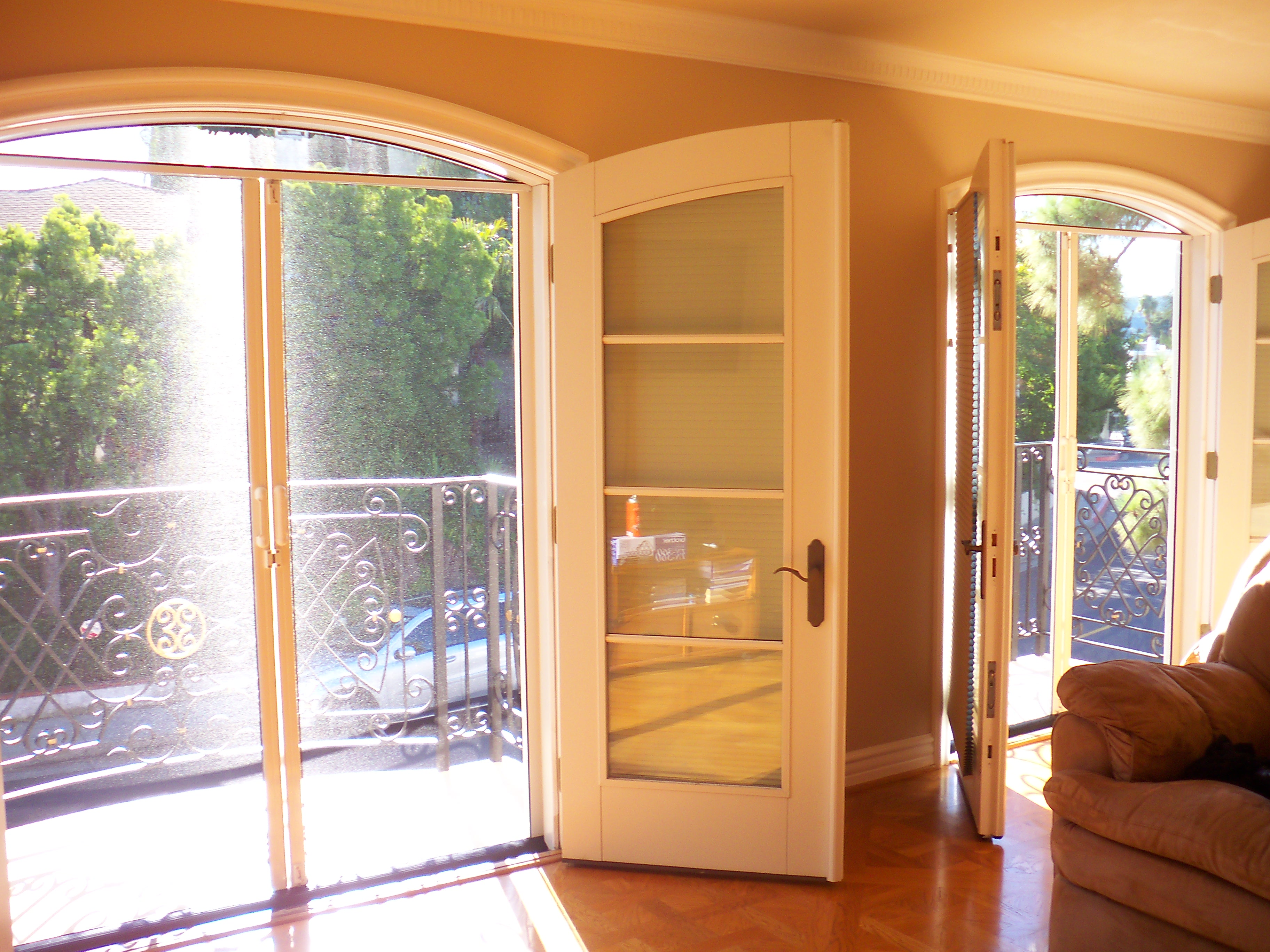 Double set french doors mobile screen service - Double french doors with screens ...