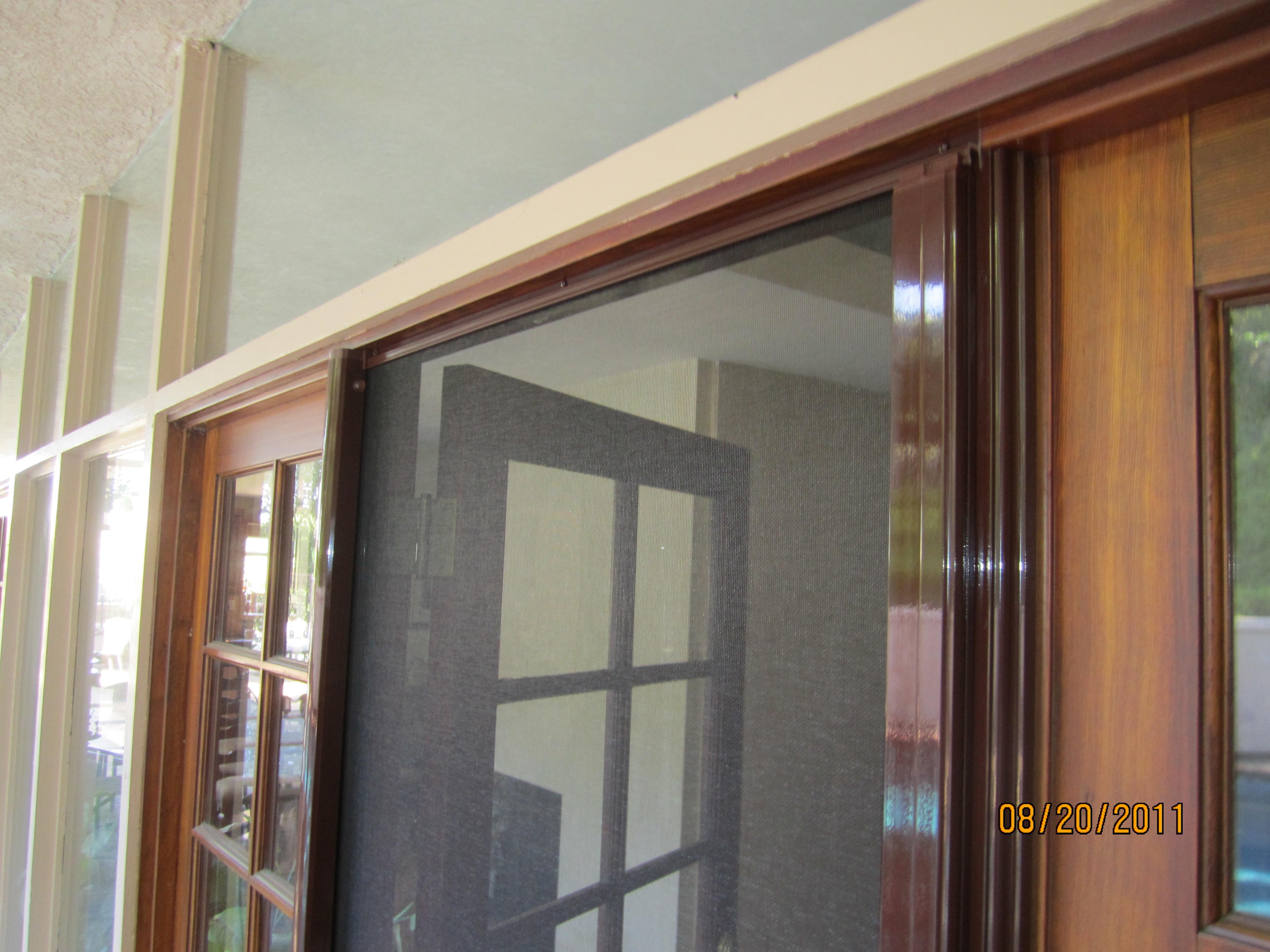 Hideaway door screen 3000 series self storing storm door for Hideaway retractable screens