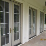 All double sets retractabee screen french doors screens