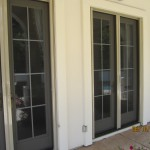 All double sets retractable screen french doors Simi Valley