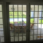 New custom made sliding patio screen doors for breakfast area