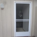 Model-E white Swinging Screen Door