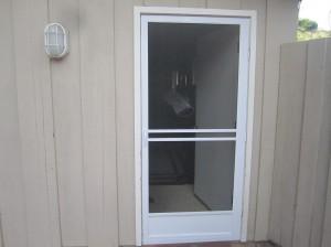 Model-E white Swinging Screen Door