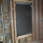 Dropped down Motorized Power Screens installation side view windows
