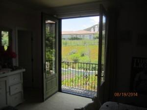 Open set of retractable screen doors in Topanga