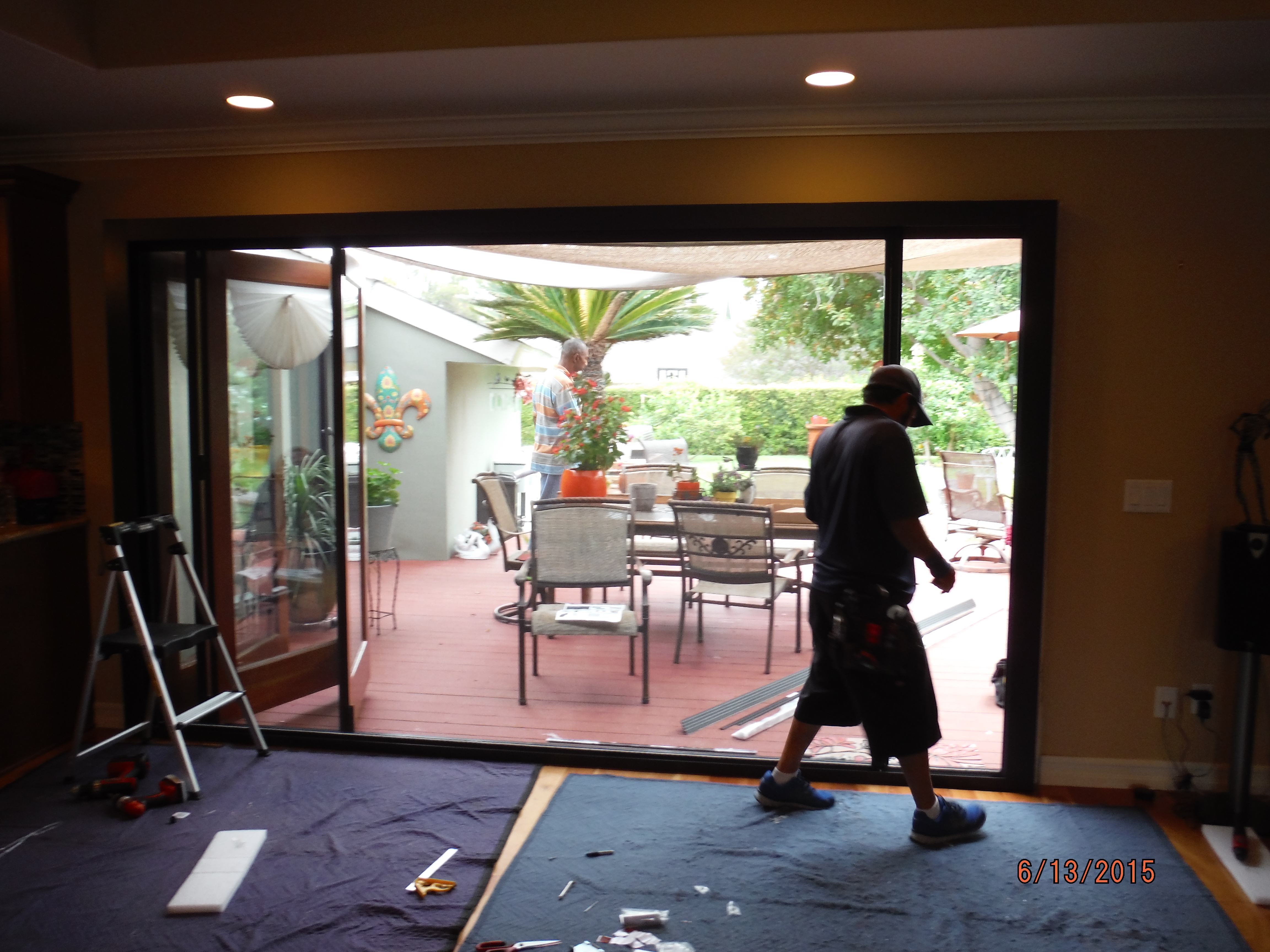 accordion glass doors with screen. centor arquitectural screen for bi-folding glass doors in west hills, ca accordion with