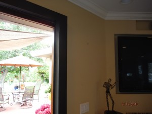 Exterior View of the Centor Arquitectural Screen for Bi-Folding Glass Doors in West Hills, CA