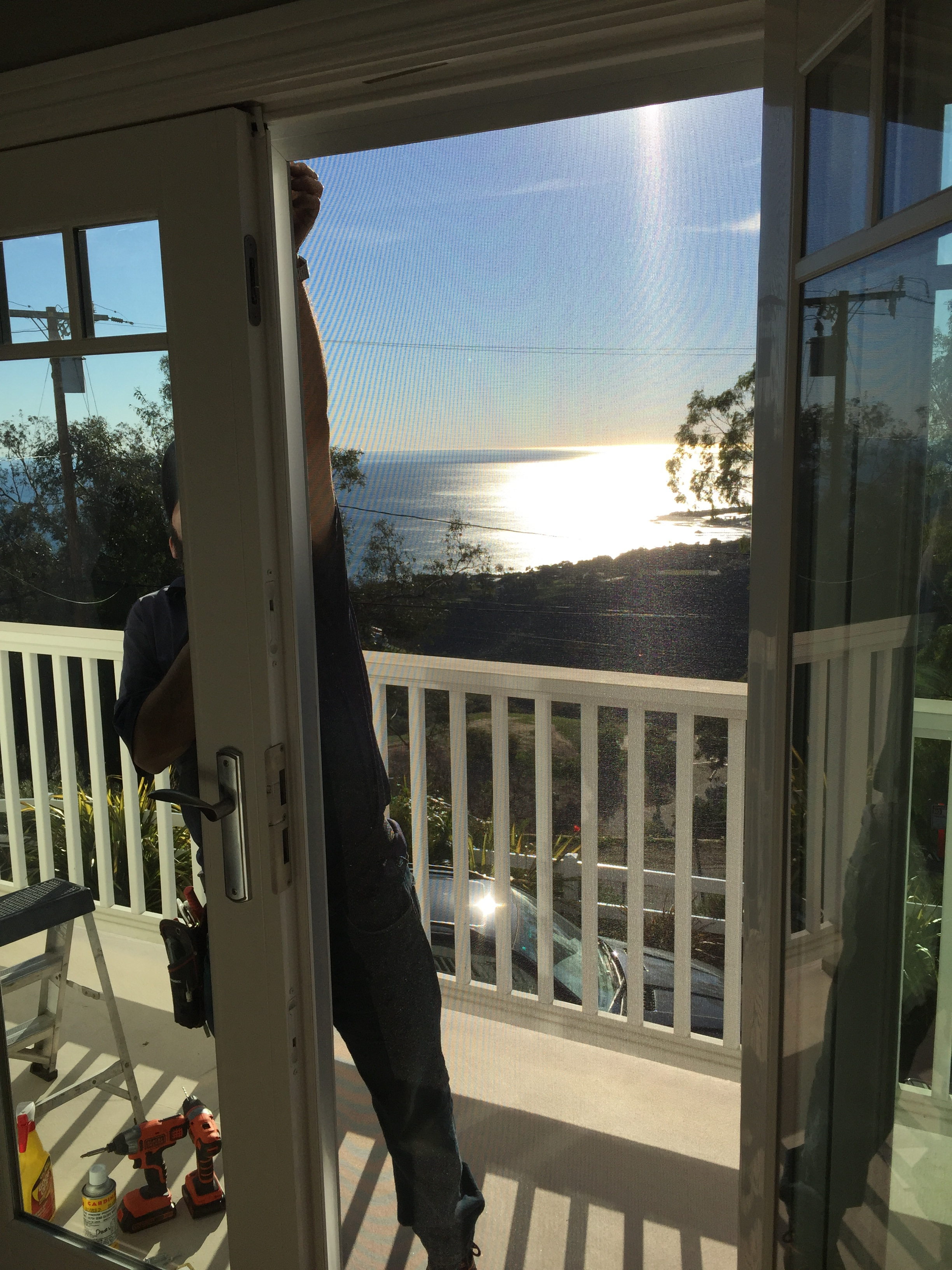 Malibu home arched window screen replacement balcony ocean for House window screens